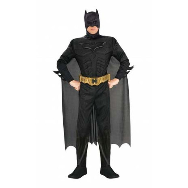 Batman (adult) deluxe with muscle chest Costume, Fancy Dress, Large, US Size