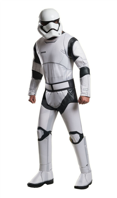 Deluxe Stormtrooper Star Wars Costume, Fancy Dress, XL, US Size