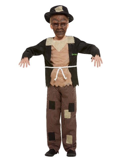 Goosebumps Scarecrow Costume, Brown & Black, Boys Fancy Dress Costume, Large