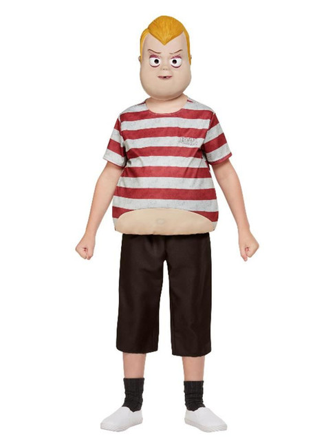 Addams Family Pugsley Costume, Burgundy, Boys Fancy Dress Costume, Medium