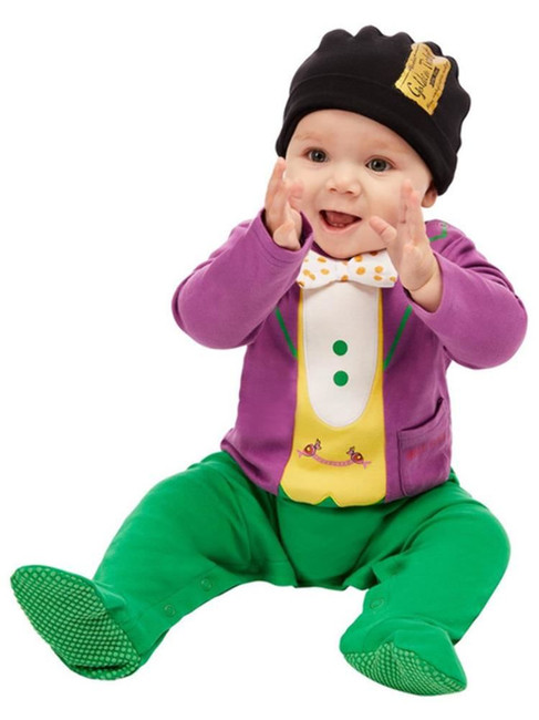 Roald Dahl Willy Wonka Baby Costume, Baby Fancy Dress Costume, 0-6 Months