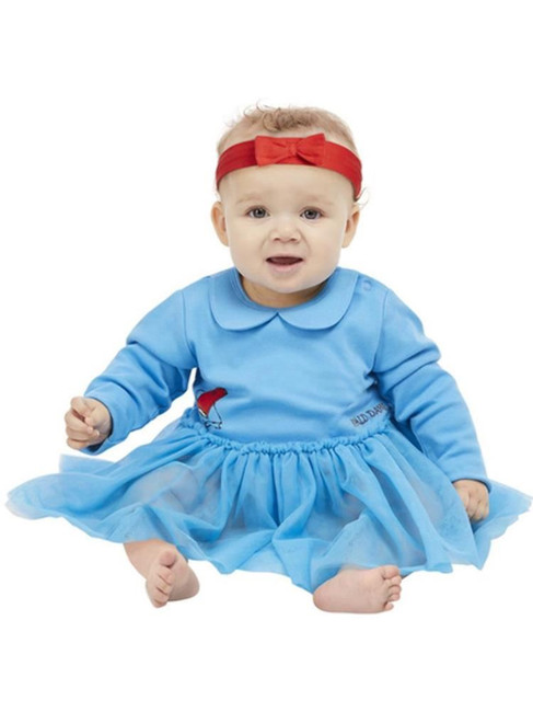 Roald Dahl Matilda Baby Costume, Blue, Fancy Dress Costume, Size 0-6 Months