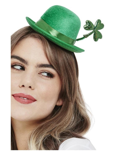 St Patricks, Deluxe Paddy's Day Mini Bowler Hat, Irish/Ireland Fancy Dress