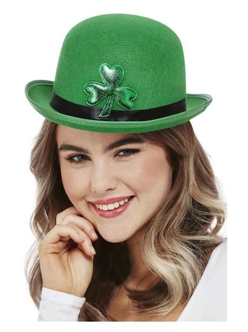 St Patricks, Paddy's Day Bowler Hat, Felt ,Irish/Ireland Fancy Dress