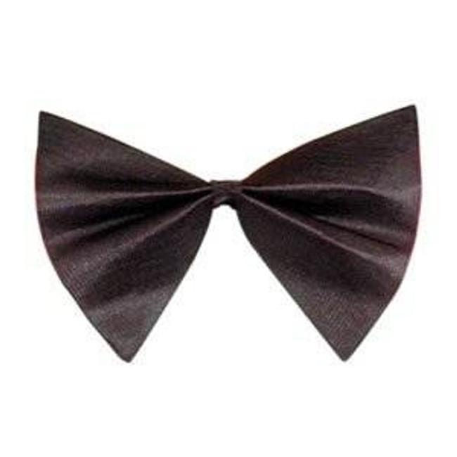 SMALL SATIN BLACK BOW TIE, FANCY DRESS ACCESSORY