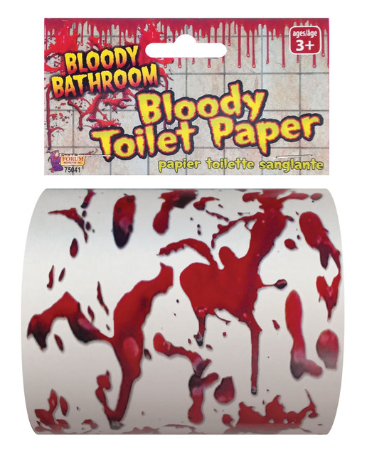Novelty Toilet Paper, Bloody, Halloween/Corona Virus