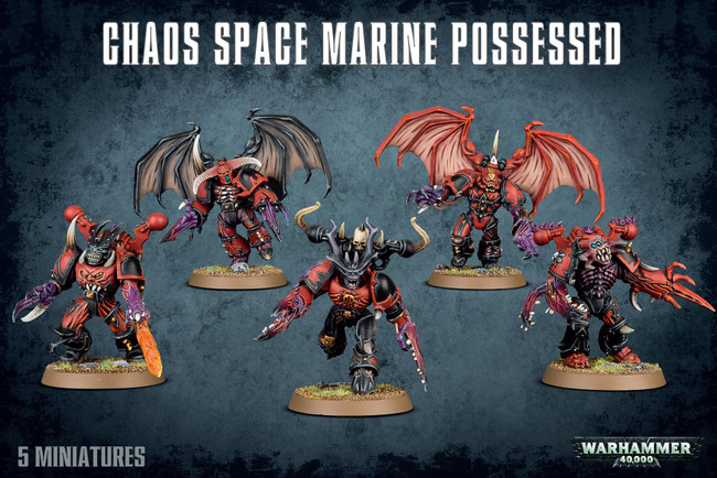 Chaos Space Marines Possessed, Warhammer 40,000, 40k, Games Workshop