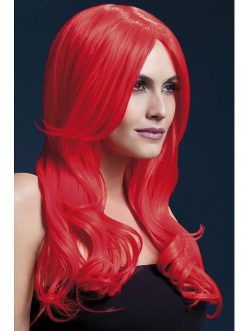 Fever Khloe Wig, One Size, Fever Wigs, Fancy Dress, Red