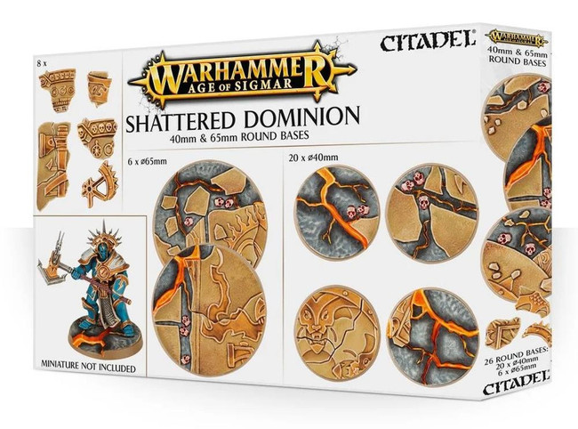 Warhammer Age of Sigmar: Shattered Dominion: 65 & 40mm Round Bases