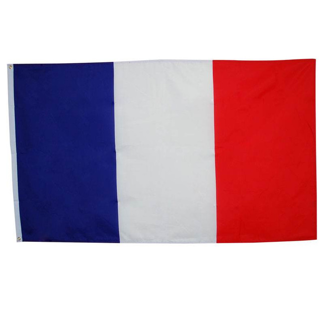French Flag. 3' x 5'. Cloth.