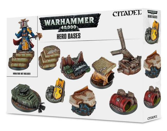 Warhammer 40,000: Hero Bases, Age of Sigmar/40,000/Minatures