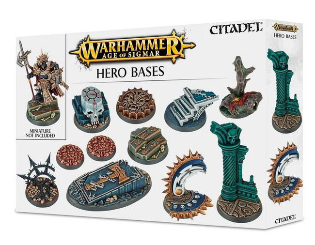 Warhammer Age of Sigmar Hero Bases, Age of Sigmar/40,000/Minatures