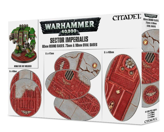 Sector Imperialis: 60Mm Rd+75/90Mm Oval Bases, Citadel/Warhammer Hobby