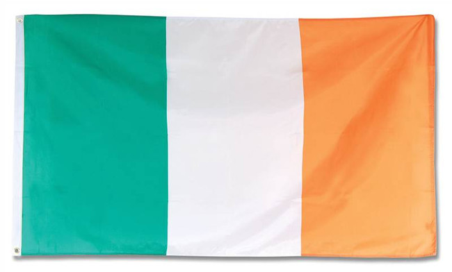 Irish Flag. 3' x 5'. Cloth.