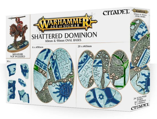 Warhammer Age of Sigmar: Shattered Dominion: 60 & 90mm Oval Bases
