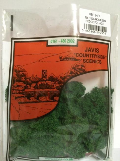 Javis: No.3 Hedge Foliage DarkGreen, Wargaming/Model Railway Terrain/Scenery