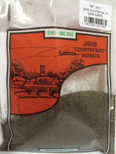 Javis: Scatter No.31 Dark Earth, Wargaming/Model Railway Terrain/Scenery