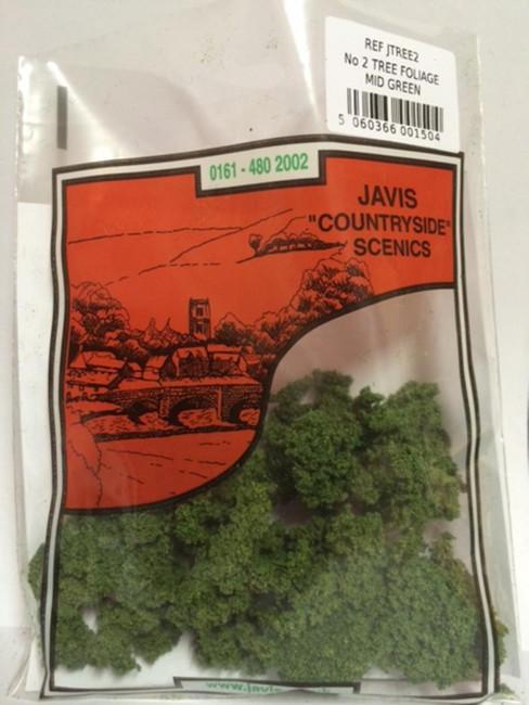Javis: No.2 Tree Foliage Mid Green, Wargaming/Model Railway Terrain/Scenery