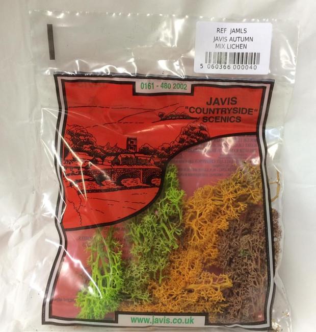 Javis: Autumn Mix Lichen, Wargaming/Model Railway Terrain/Scenery