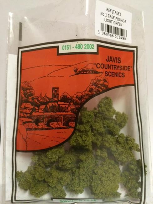 Javis: No.1 Tree Foliage Light Green , Wargaming/Model Railway Terrain/Scenery