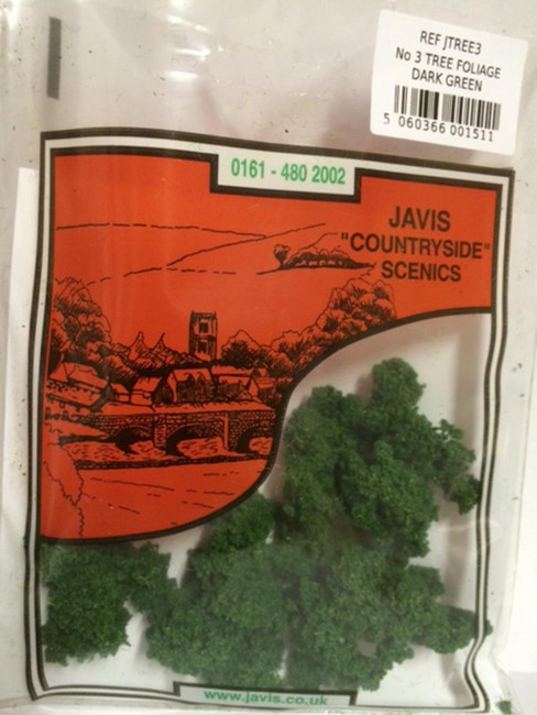 Javis: No.3 Tree Foliage Dark Green, Wargaming/Model Railway Terrain/Scenery