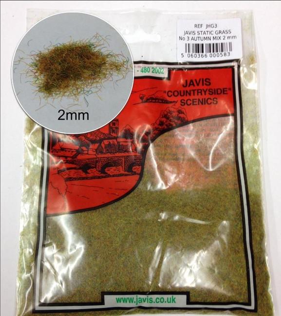 Javis: Hairy Grass Autumn Mix 2mm, Wargaming/Model Railway Terrain/Scenery