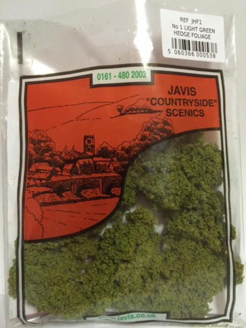 Javis: No.1 Hedge Foliage Light Green, Wargaming/Model Railway Terrain/Scenery