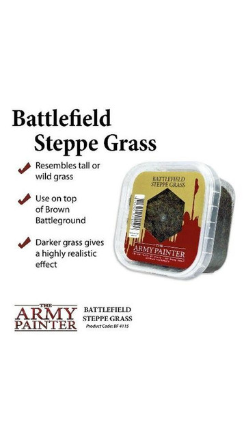 The Army Painter - Battlefields - Steppe Grass, Wargaming/Terrain/Scenery