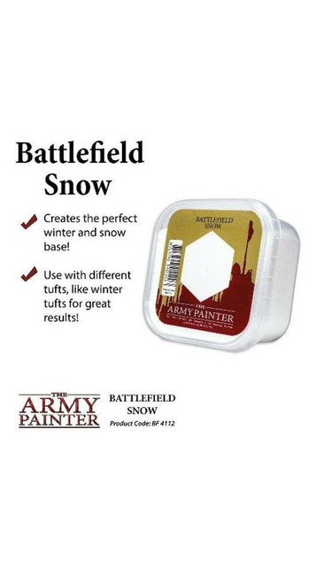 The Army Painter - Battlefields - Basing Snow, Wargaming/Terrain/Scenery