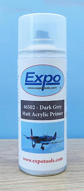 Expo 400ml Acrylic Primer Spray - Dark Grey, Wargaming/Miniatures/Modeling