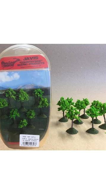 Javis: Countryside 8 x 45mm N Trees, Wargaming/Model Railway Terrain/Scenery