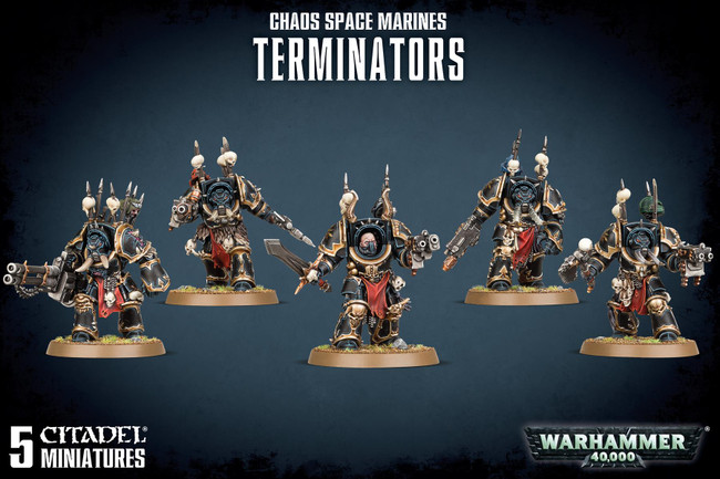 Chaos Space Marine Terminators, Warhammer 40,000, 40k, Games Workshop