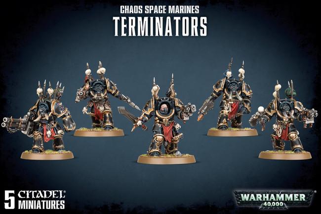Chaos Space Marine Terminators, Warhammer 40,000, 40k, Games Workshop