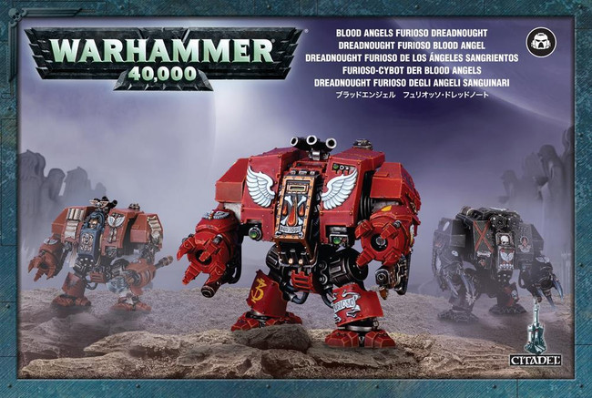Blood Angels Furioso Dreadnought, Warhammer 40,000, 40k, Games Workshop