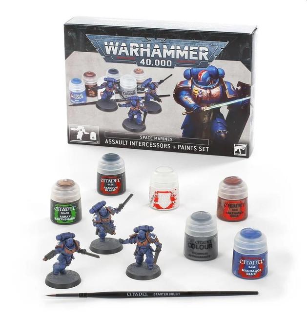 Space Marines:  Assault Intercessors Paint Set, Warhammer 40,000,