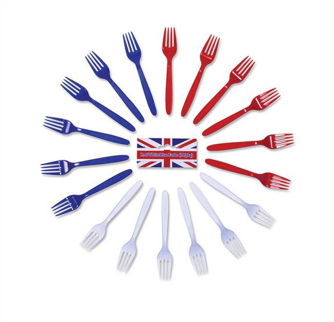 Red/White/Blue Forks.