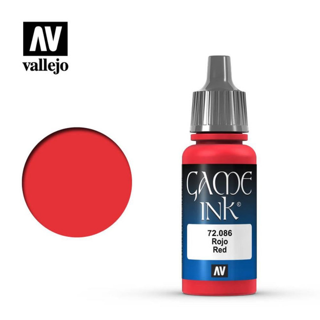 AV Vallejo Game Color - Game Ink - Inky Red 17ml