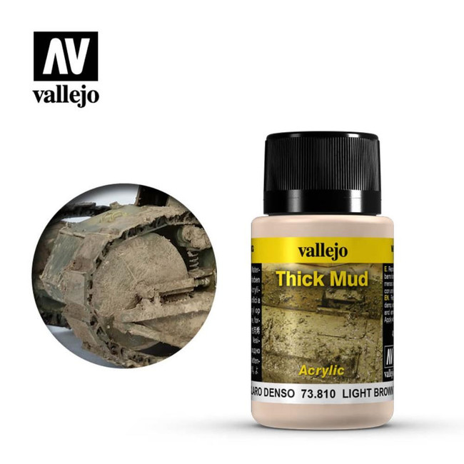 AV Vallejo Weathering Effects 40ml - Light Brown Thick Mud