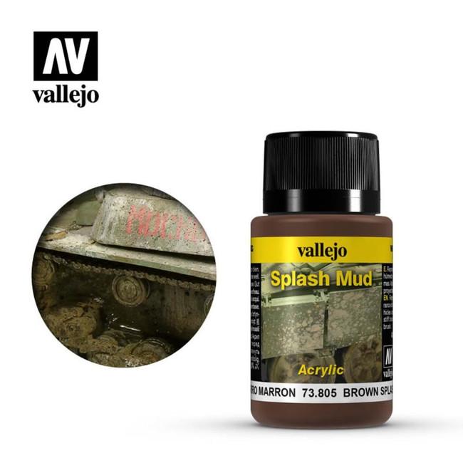 AV Vallejo Weathering Effects 40ml - Brown Splash Mud