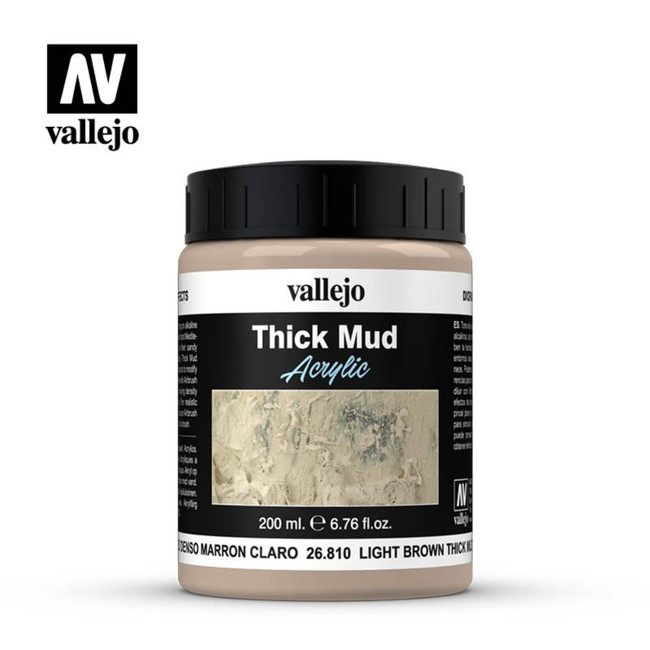 AV Vallejo Weathering Effects 200ml - Light Brown Thick Mud