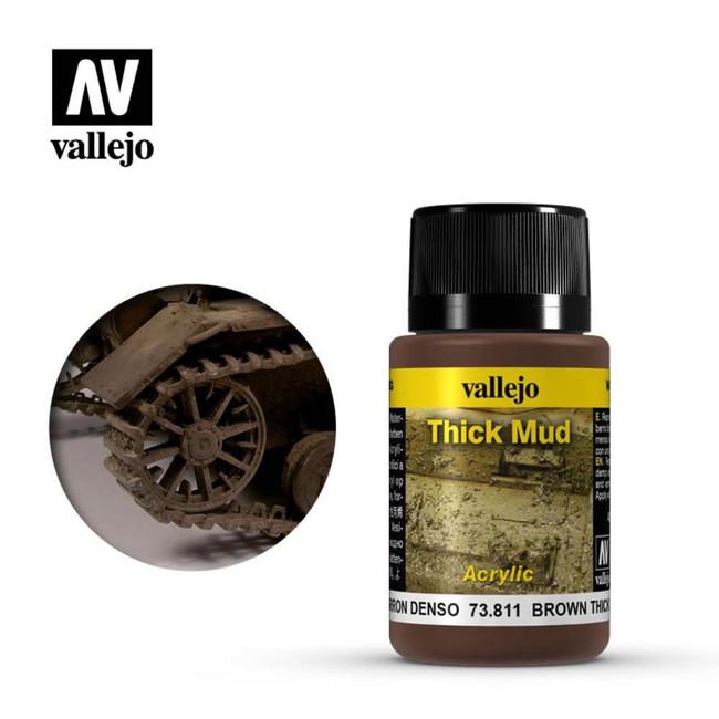 AV Vallejo Weathering Effects 40ml - Brown Thick Mud