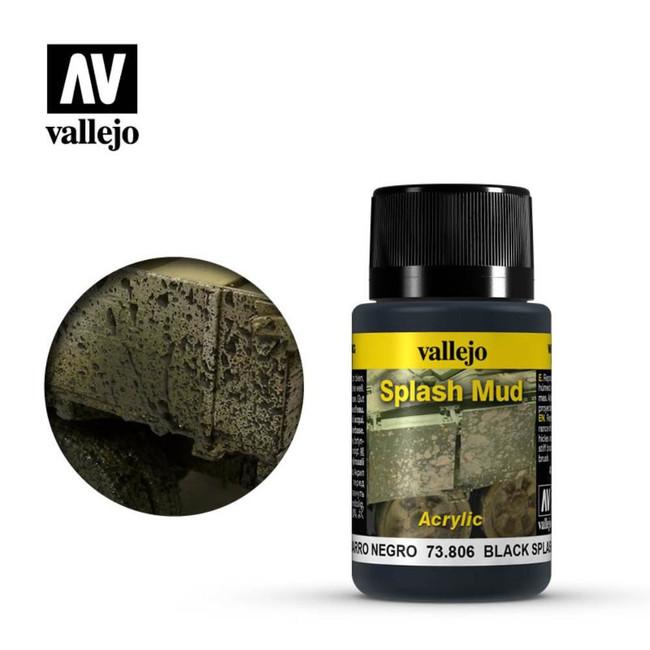 AV Vallejo Weathering Effects 40ml - Black Splash Mud