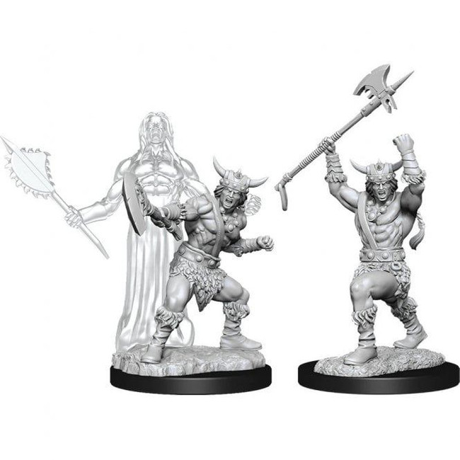 Male Human Barbarian: D&D Nolzur's Marvelous Unpainted Miniatures (W11)