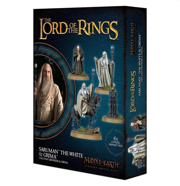 Middle-Earth/Lord Of The Rings: Saruman The White & Grima, Minatures Game