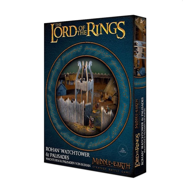 Middle-Earth Strategy Game: Rohan Watchtower & Palisades, Minatures Game