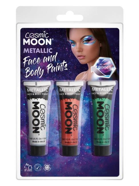 Cosmic Moon Metallic Face & Body Paint,.