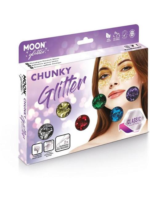Moon Glitter Classic Chunky Glitter, Assorted.