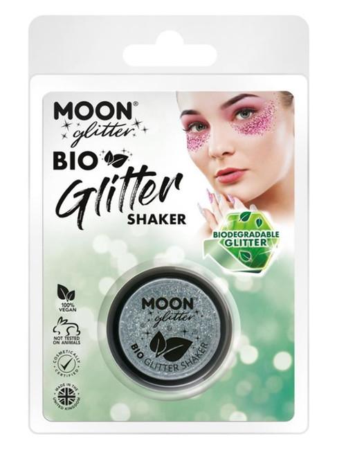 Moon Glitter Bio Glitter Shakers, Silver.