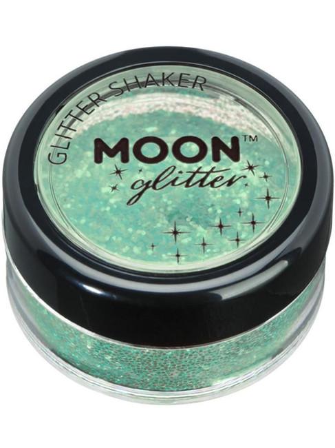 Moon Glitter Iridescent Glitter Shakers, Green.