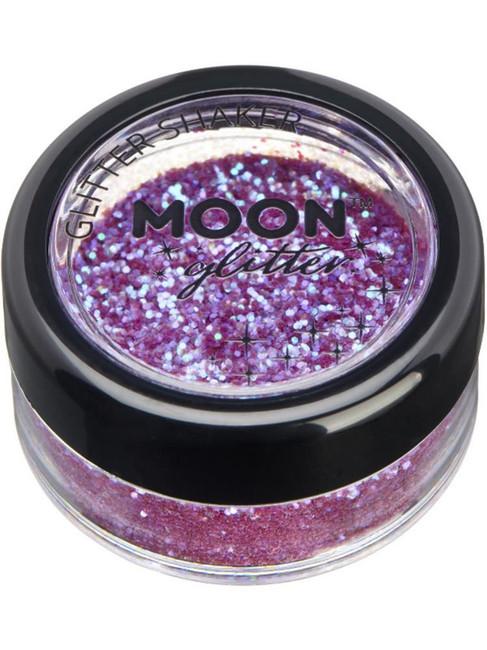 Moon Glitter Iridescent Glitter Shakers, Purple.